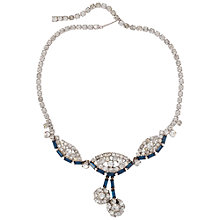Buy Susan Caplan Vintage Bridal 1940s Crystal Deco Necklace, Silver Online at johnlewis.com