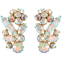 Buy Susan Caplan Vintage Bridal 1950s Sherman Gold Plated Swarovski Earrings, Light Gold Online at johnlewis.com