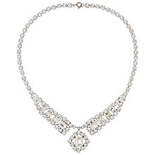 Buy Susan Caplan Vintage Bridal 1950s Swarovski Crystal Necklace, Silver Online at johnlewis.com