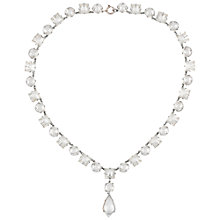 Buy Susan Caplan Vintage Bridal 1930s Silver Plated Deco Crystal Necklace, Clear/Silver Online at johnlewis.com