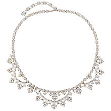 Buy Susan Caplan Vintage Bridal 1960s Silver Plated Crystal Swag Necklace. Clear/Silver Online at johnlewis.com