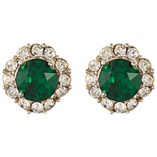 Buy Susan Caplan Vintage Bridal 1960s Bogoff Silver Plated Swarovski Clip-On Earrings, Green Online at johnlewis.com