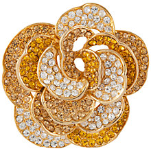 Buy Susan Caplan Vintage 1970s Ciro Swarovski Crystal Rose Brooch, Amber/Gold Online at johnlewis.com