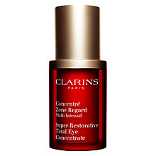 Buy Clarins Super Restorative Total Eye Concentrate, 15ml Online at johnlewis.com
