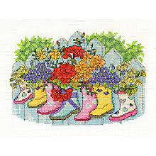 Buy Blossoming Wellies Tapestry Kit Online at johnlewis.com