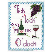 Buy Tick Tock Wine O'Clock Tapestry Kit Online at johnlewis.com