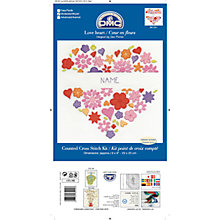 Buy DMC Love Heart Counted Cross Stitch Kit Online at johnlewis.com