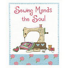 Buy Sewing Mends The Soul Tapestry Kit Online at johnlewis.com