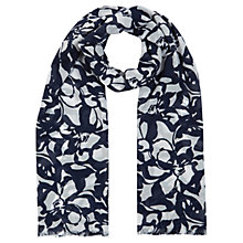 Buy Planet Floral Scarf, Navy / Ivory Online at johnlewis.com