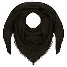 Buy Planet Geometric Scarf, Black Online at johnlewis.com