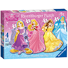 Buy Ravensburger Disney Princess Shaped Jigsaw Puzzles, Box of 4 Online at johnlewis.com