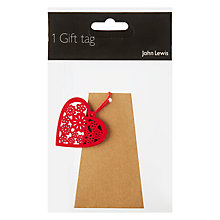 Buy John Lewis Craft and Red Heart Gift Tag Online at johnlewis.com