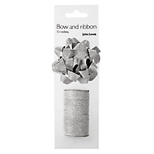 Buy John Lewis Glitter Gift Bow, Silver Online at johnlewis.com
