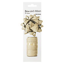 Buy John Lewis Glitter Bow and Curling Ribbon, Gold Online at johnlewis.com