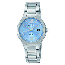 Buy Seiko SUT209P9 Women's Solar Stainless Steel Bracelet Watch, Blue/Silver Online at johnlewis.com
