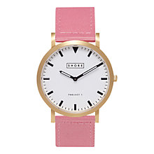 Buy Shore Projects Portland W004S016G Gold Plated Unisex Canvas Strap  Watch Online at johnlewis.com