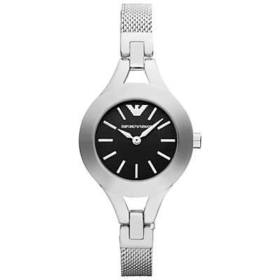 Emporio Armani AR7328 Women's Bracelet Strap Watch, Silver/Black