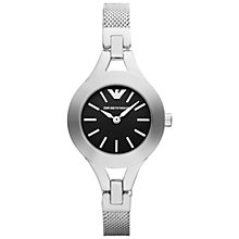 Buy Emporio Armani AR7328 Women's Chiara Bracelet Watch, Silver/Black Online at johnlewis.com