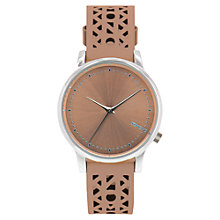 Buy Komono Women's Estelle Leather Strap Watch Online at johnlewis.com