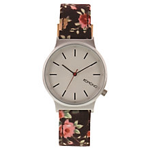 Buy Komono KOM-W1810 Unisex Wizard Print Series Leather Strap Watch, Roseberry Online at johnlewis.com