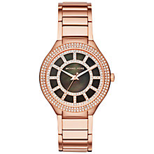 Buy Michael Kors MK3397 Women's Kerry Stainless Steel Crystal Bracelet Strap Watch, Rose Gold/Black Online at johnlewis.com
