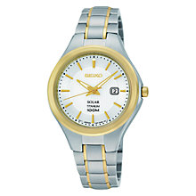 Buy Seiko Women's Solar Powered Titanium Bracelet Watch Online at johnlewis.com