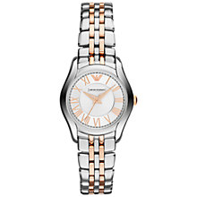 Buy Emporio Armani AR1825 Women's Valente Bracelet Watch, Silver/Rose Gold Online at johnlewis.com