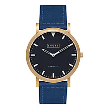 Buy Shore Projects St Ives W003S008G Gold Plated Canvas Strap Unisex Watch Online at johnlewis.com