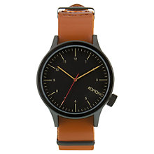 Buy Komono Unisex Magnus Leather Strap Watch Online at johnlewis.com