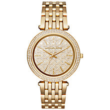Buy Michael Kors Darci Stainless Steel Crystal Bracelet Strap Watch Online at johnlewis.com
