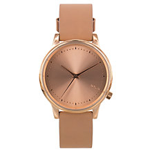 Buy Komono KOM-W2450 Women's Estelle Leather Strap Watch, Classic Seashell Online at johnlewis.com