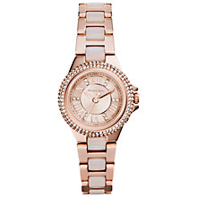 Buy Michael Kors MK4292 Women's Camile Stainless Steel Crystal Bracelet Strap Watch, Rose Gold Online at johnlewis.com