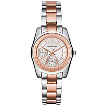 Buy Michael Kors MK6196 Women's Ryland Multifunction Stainless Steel Watch, Silver/Rose Gold Online at johnlewis.com
