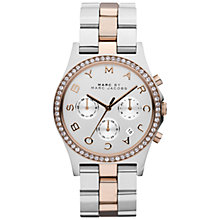 Buy Marc by Marc Jacobs MBM3106 Women's Henry Chronograph Watch, Silver Online at johnlewis.com