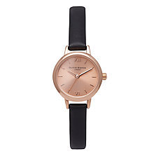 Buy Olivia Burton Women's Mini Dial Leather Strap Watch Online at johnlewis.com