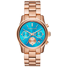 Buy Michael Kors Runway Women's Stainless Steel Bracelet Strap Watch Online at johnlewis.com