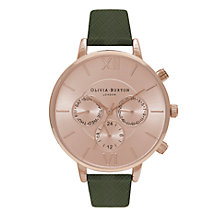 Buy Olivia Burton Women's Stainless Steel Chronograph Detail Leather Strap Watch Online at johnlewis.com