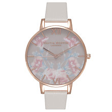 Buy Olivia Burton Women's Stainless Steel Enchanted Garden Leather Strap Watch Online at johnlewis.com