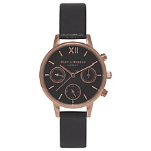 Buy Olivia Burton Women's Midi Chronograph Leather Strap Watch Online at johnlewis.com
