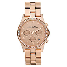 Buy Marc by Marc Jacobs MBM3118 Women's Henry Chronograph Watch, Rose Gold Online at johnlewis.com