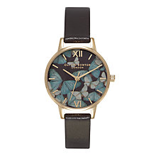 Buy Olivia Burton OB15WL52 Women's Stainless Steel Woodland Butterfly Chocolate Leather Strap Watch, Chocolate Online at johnlewis.com