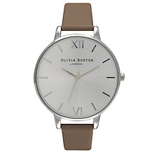 Buy Olivia Burton Women's Stainless Steel Big Dial Leather Strap Watch Online at johnlewis.com