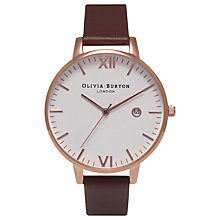 Buy Olivia Burton Women's Timeless Date Leather Strap Watch Online at johnlewis.com