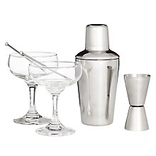 Buy John Lewis Martini for Two Gift Set Online at johnlewis.com