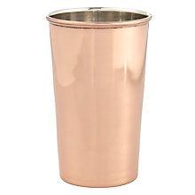 Buy John Lewis Mint Julep Tumbler, Copper Online at johnlewis.com