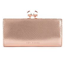 Buy Ted Baker Annge Square Matinee Purse, Rose Gold Online at johnlewis.com
