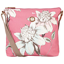 Buy Nica Sheila Messenger Denim Flower Print Bag, Rose Online at johnlewis.com