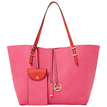 Buy Dune Dominique Colour Block Shopper Bag , Red Online at johnlewis.com