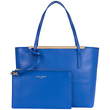 Buy Ted Baker Isbell Leather Crosshatch Shopper Bag Online at johnlewis.com