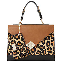 Buy Dune Dhannah Structured Colour Block Grab Bag, Leopard Online at johnlewis.com